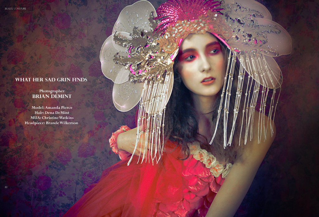 Fashion Editorial in Beaux Couture Magazine: Makeup by Christine Watkins